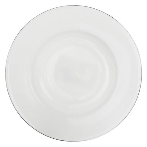 Buy Queensberry Hunt for John Lewis Platinum Soup Plate, Dia.26.5cm, White Online at johnlewis.com
