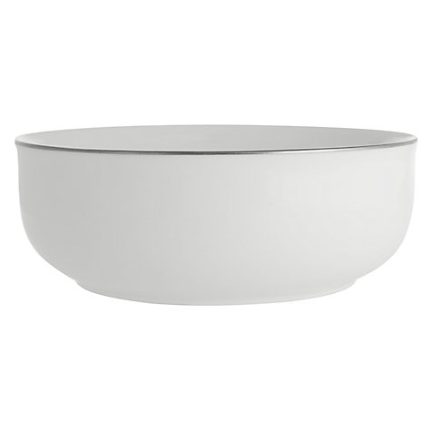 Buy Queensberry Hunt for John Lewis Platinum Cereal Bowl, White, Dia.15.5cm Online at johnlewis.com