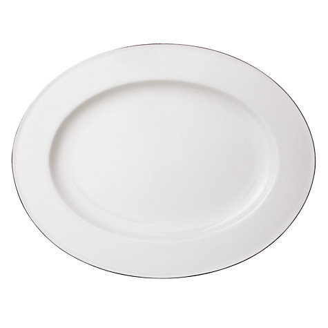 Buy Queensberry Hunt for John Lewis Platinum Oval Platter, 36cm Online at johnlewis.com