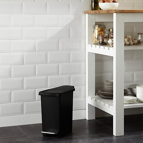 Buy simplehuman Slim Plastic Pedal Bin, Black, 10L Online at johnlewis.com