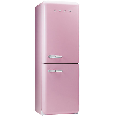 Buy Smeg FAB32QRO Fridge Freezer, A+ Energy Rating, 60cm Wide, Pink Online at johnlewis.com