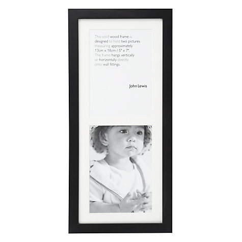 "Buy John Lewis Pine Multi-aperture Frame, Black, 2 Photo, 5 x 7"" (13 x 18cm) Online at johnlewis.com"