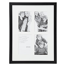 "Buy John Lewis Pine Photo Frame, Black, 4 x 6"", 4 Aperture Online at johnlewis.com"