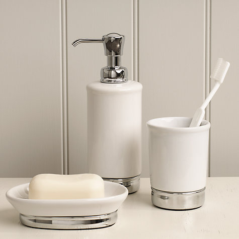 Buy John Lewis York Soap Dish, White Online at johnlewis.com