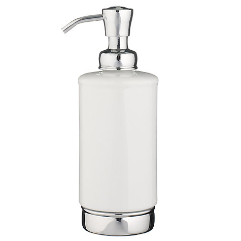 Buy John Lewis York Soap Pump, White Online at johnlewis.com