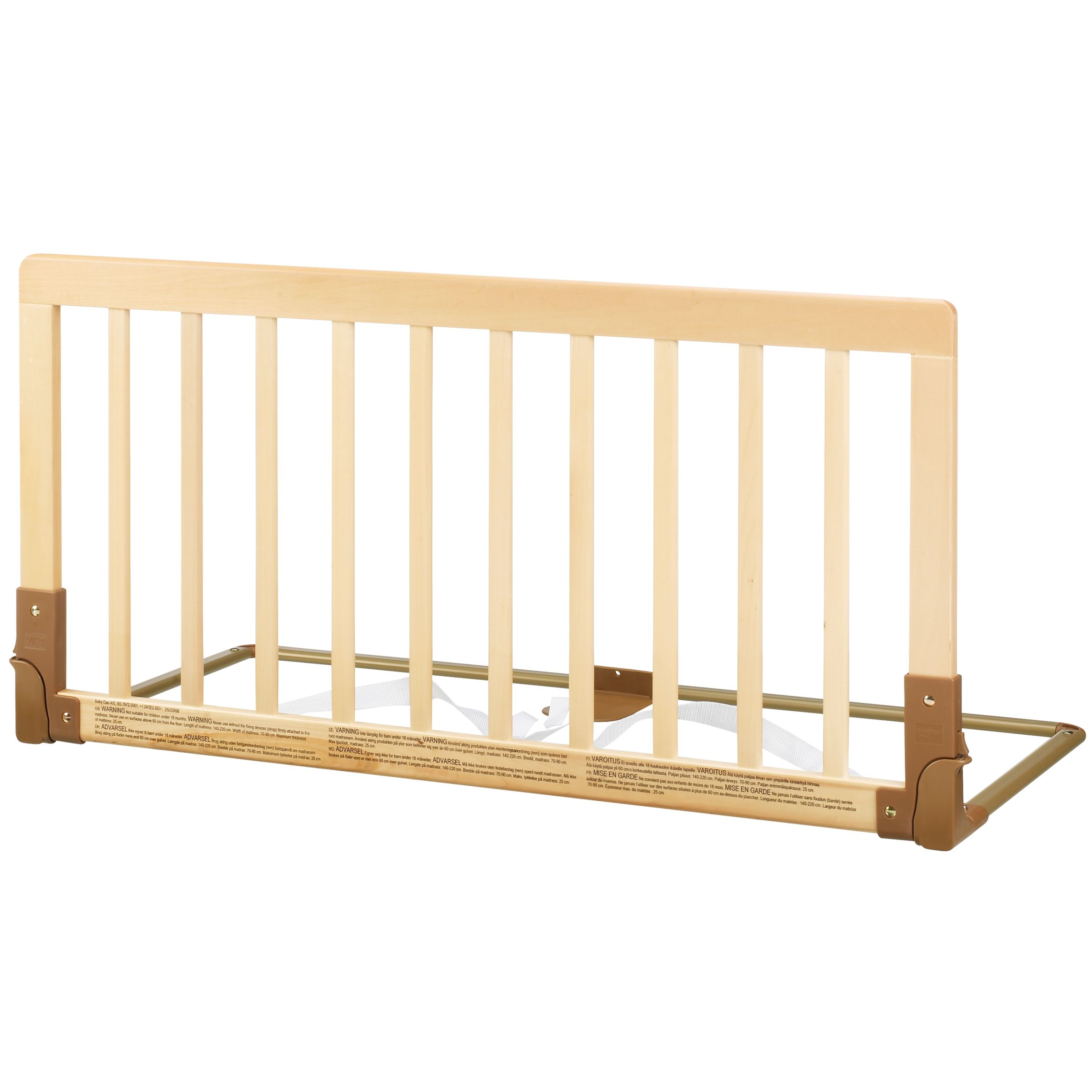 BabyDan BabyDan Wooden Bed Guard Rail, Natural
