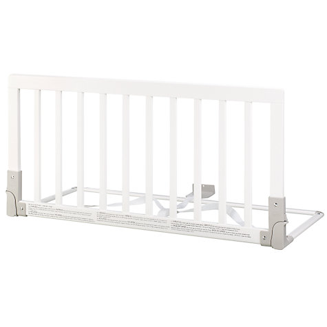 Buy BabyDan Wooden Bedrail, White Online at johnlewis.com