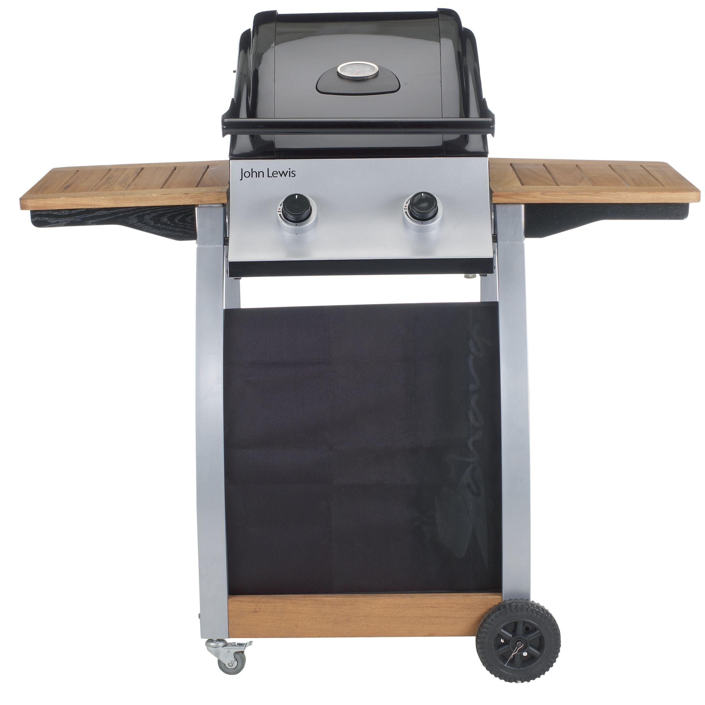 John Lewis JHL2B2 2-Burner Gas Barbecue, Hooded
