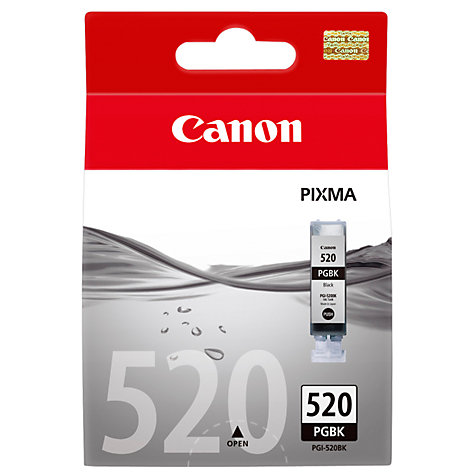 Buy Canon Pixma Inkjet Cartridge, Pigment Black, PGI-520 Online at johnlewis.com