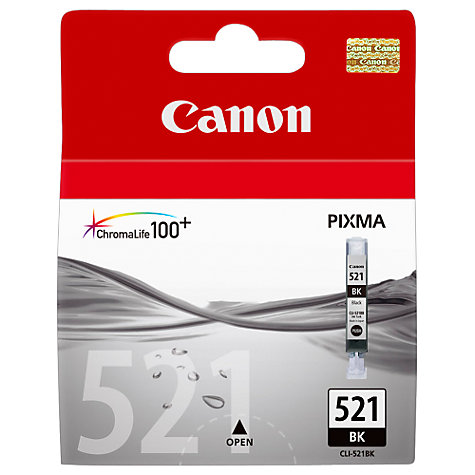 Buy Canon Pixma Inkjet Cartridge, Black, CLI-521 Online at johnlewis.com