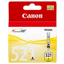 Buy Canon Pixma Inkjet Cartridge, Yellow, CLI-521 Online at johnlewis.com