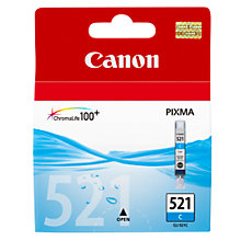 Buy Canon Pixma Inkjet Cartridge, Cyan, CLI-521 Online at johnlewis.com