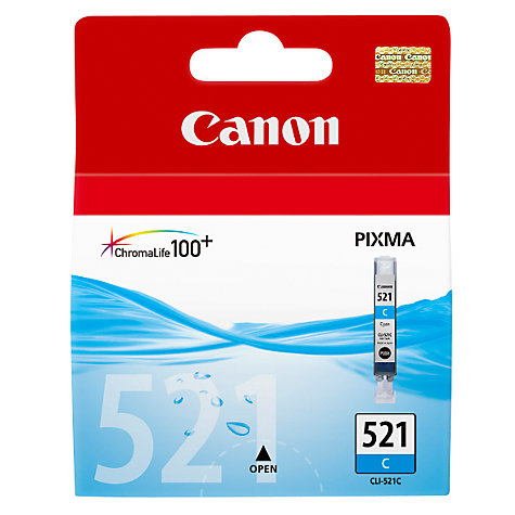 Buy Canon PIXMA CLI-521 Colour Inkjet Cartridge Online at johnlewis.com