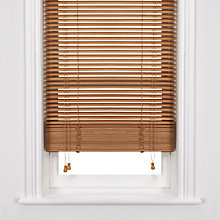 Buy John Lewis Wooden Venetian Blind, Havana, 25mm Online at johnlewis.com