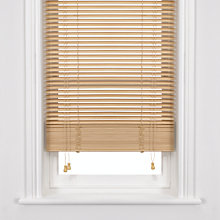 Buy John Lewis Wooden Venetian Blind, Natural, 25mm Online at johnlewis.com