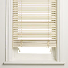 Buy John Lewis Wooden Venetian Blind, Chalk, 35mm Online at johnlewis.com