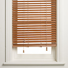 Buy John Lewis Wooden Venetian Blind, Havana, 35mm Online at johnlewis.com