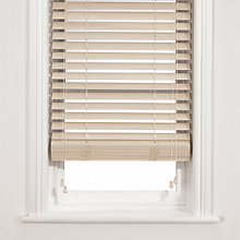 Buy John Lewis Wooden Venetian Blind, Chalk, 50mm Online at johnlewis.com