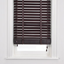 Buy John Lewis Wooden Venetian Blind, Mocha, 50mm Online at johnlewis.com