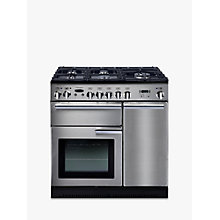 Buy Rangemaster Professional+ 90 Gas Range Cooker and LEIHDC90SC Chimney Cooker Hood, Stainless Steel Online at johnlewis.com