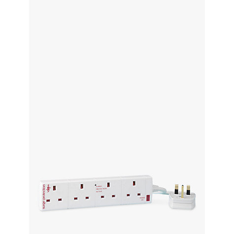 Buy John Lewis 4 Gang Extension Lead with Surge Protection, 2 Metre Online at johnlewis.com