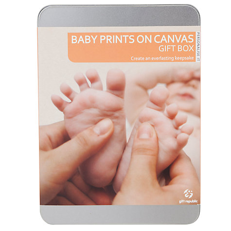 Buy Baby Prints Canvas Gift Tin Online at johnlewis.com