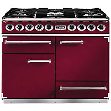 Buy Falcon Deluxe 1092 Dual Fuel Range Cooker, Cranberry / Gloss Chrome Online at johnlewis.com