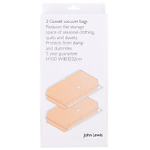 Buy John Lewis Gusseted Vacuum Storage Bag, Pack of 2 Online at johnlewis.com