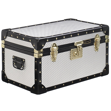 Buy John Lewis 47L Diamond Embossed Aluminium Tuck Box Online at johnlewis.com