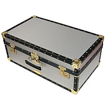 Buy John Lewis 91L Diamond Embossed Aluminium Attache Trunk Online at johnlewis.com