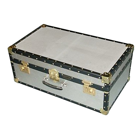 Buy John Lewis 121L Diamond Embossed Aluminium Hand Trunk Online at johnlewis.com