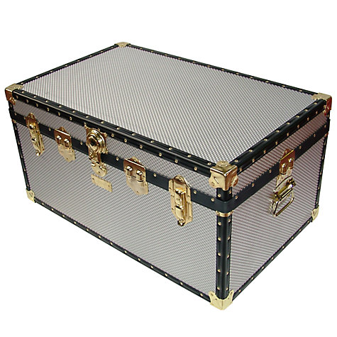 Buy John Lewis 173L Diamond Embossed Aluminium Storer Trunk Online at johnlewis.com