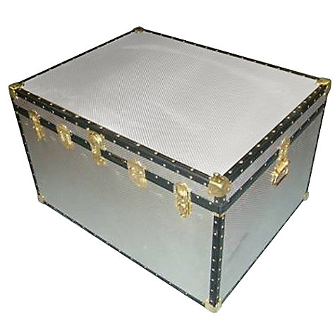 Buy John Lewis 363L Diamond Embossed Aluminium King Trunk Online at johnlewis.com