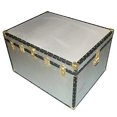 Buy John Lewis 460L Diamond Embossed Aluminium Jumbo Trunk Online at johnlewis.com