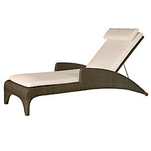 Buy Barlow Tryie Savannah Sunlounger Cushion, White Sand Online at johnlewis.com