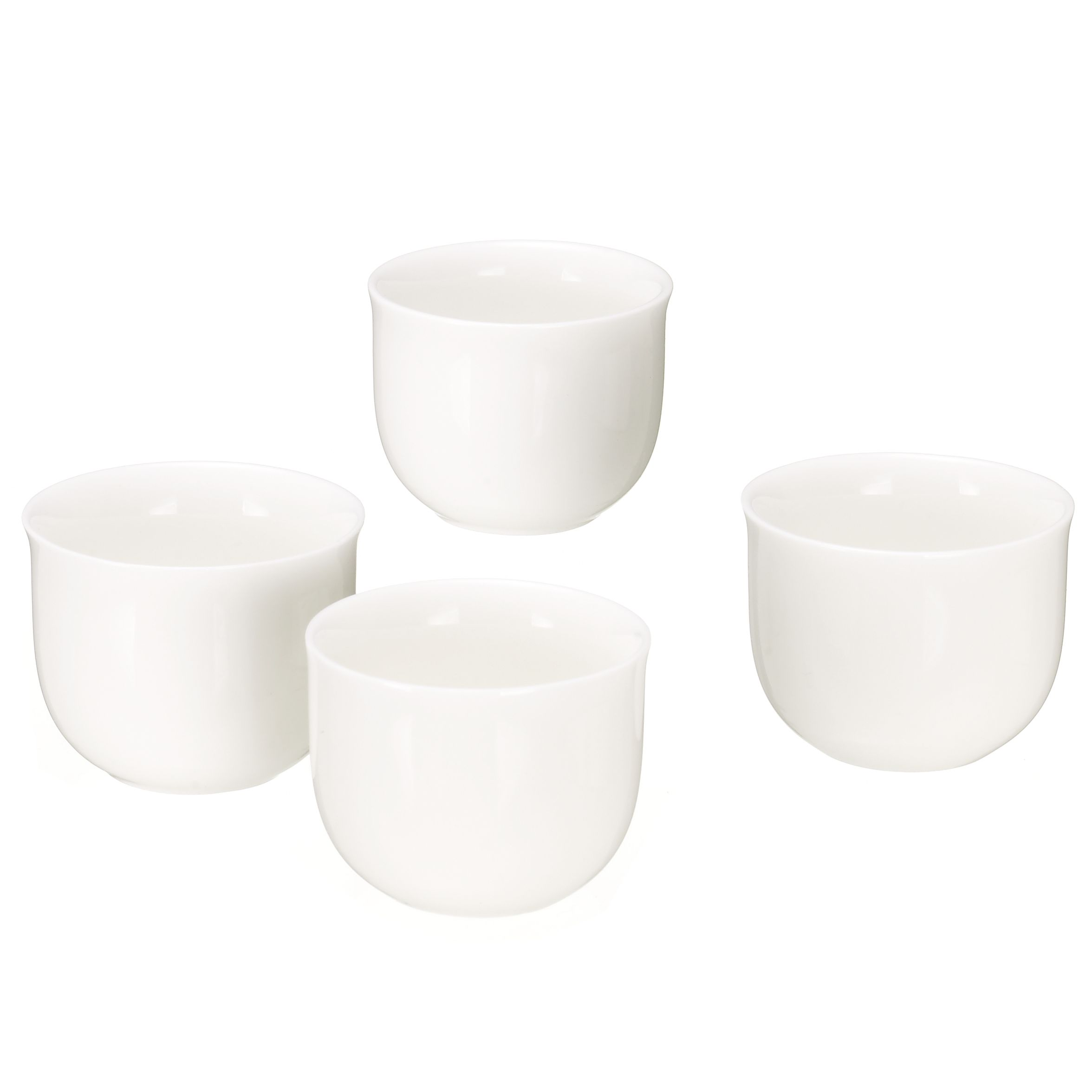 Queensberry Hunt for John Lewis White Egg Cups, Box of 4