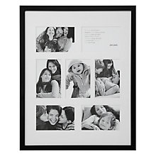 "Buy John Lewis Pine Multi-aperture Frame, Black, 7 Photo, 4 x 6"" (10 x 15cm) Online at johnlewis.com"
