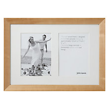 "Buy John Lewis Wall Multi-aperture Frame, Birch, 2 Photo, 5 x 7"" (13 x 18cm) Online at johnlewis.com"