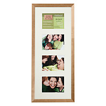"Buy John Lewis Multi-aperture Frame, Birch, 4 Photo, 5 x 7"" (13 x 18cm) Online at johnlewis.com"
