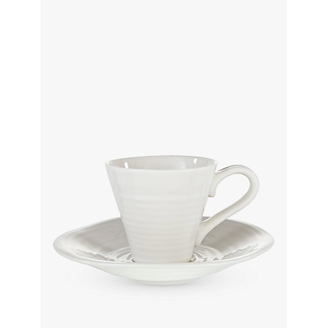 Buy Sophie Conran for Portmeirion Espresso Cup and Saucer, White, Pack of 2 Online at johnlewis.com