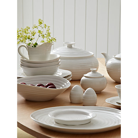 Buy Sophie Conran for Portmeirion Covered Sugar Bowl, White, 0.3L Online at johnlewis.com