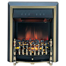 Buy Burley Fuel-Effect Electric Fire, Rotherby 531-R, Brass Online at johnlewis.com