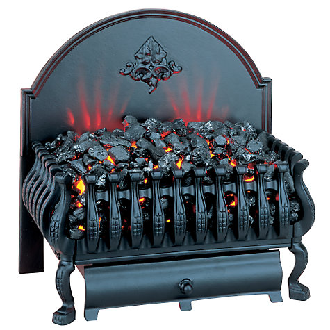 Buy Burley Fuel-Effect Electric Fire, Cottesmore 224, Black Legs Online at johnlewis.com