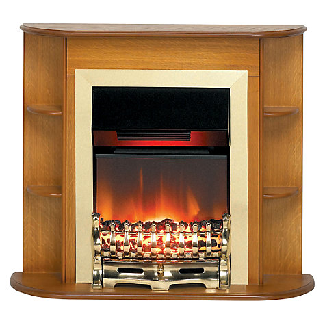 Buy Burley Fuel-Effect Electric Fire, Newbury Suite 4871, Oak Online at johnlewis.com