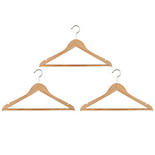 Buy John Lewis Rib Hangers, Pack of 3 Online at johnlewis.com