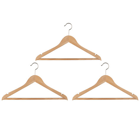 Buy John Lewis Rib Hangers, Set of 3 Online at johnlewis.com