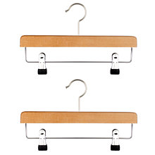 Buy John Lewis 2 Clip Bar Hangers Online at johnlewis.com