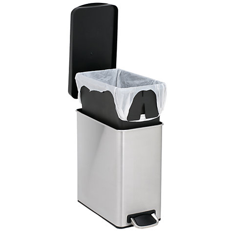 Buy simplehuman Profile Pedal Bin, Brushed Stainless Steel, 10L Online at johnlewis.com