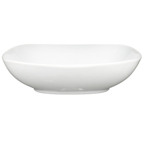 Buy Denby White Squares Pasta Bowl, 21cm Online at johnlewis.com