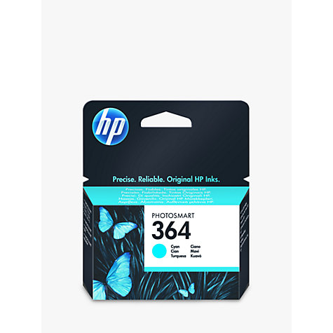 Buy HP 364 Photosmart Ink Cartridge, Cyan, CB318EE Online at johnlewis.com